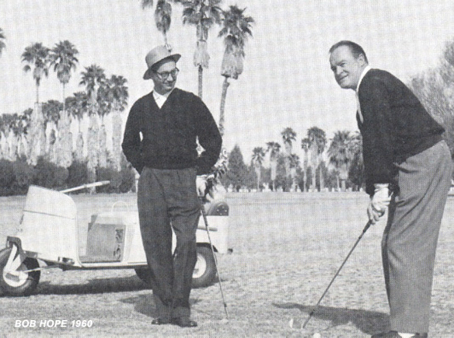 Bob Hope playing at O'Donnell Golf Club